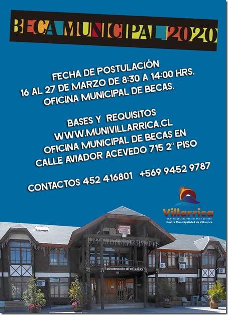 Municipalidad de Villarrica llama a postular a Beca Municipal 2020 (1)