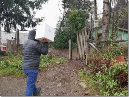 Continúa la entrega de alimentos por parte de la Municipalidad de Villarrica (1)