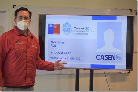 Seremi Rodrigo Carrasco detalla la credencial para Casen 2020