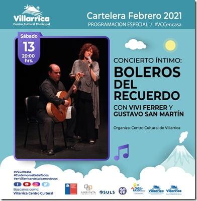 Concierto Íntimo, Boleros del Recuerdo, con Vivi Ferrer yGustavo San Martín.