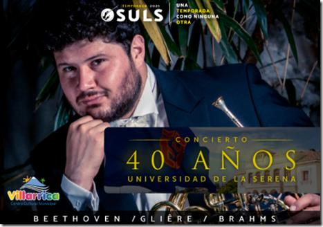 I Concierto de temporada 2021 de la OSULS que conmemora los 40 años de la Universidad de La Serena