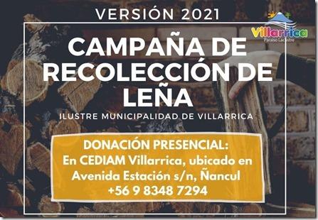 II Versión, Campaña de Recolección de Leña para Personas Mayores